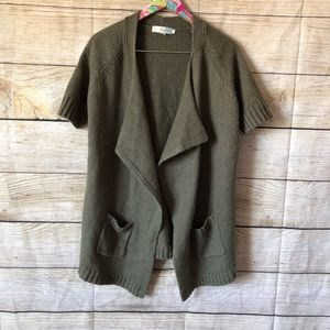 Boden short sleeve open front sweater size 8